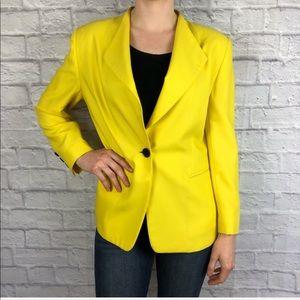 Escada Vintage Yellow Single Button Blazer